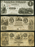 Obsoletes By State:Mixed States, Michigan City, IN-Michigan City and South Bend Plank Road Co. at Exchange Bank of H. J. Perrin & Co. $1 Apr. 1862 Crisp Un... (Total: 3 notes)