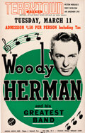 """Music Memorabilia:Posters, Woody Herman """"And His Greatest Band"""" 1952 Terrytown, NE Concert Poster...."""