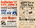 Music Memorabilia:Posters, Dick and Dee Dee, Ray Peterson & Jo Ann Campbell Early 60's Concert Posters (2).... (Total: 2 Items)