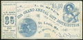 $5 Lottery Ticket - L.D. Sine's 12h Grand Annual Gift Distribution Jan. 1, 1866 Fine-Very Fine