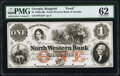 Obsoletes By State:Georgia, Ringgold, GA- North Western Bank of Georgia $1 18__ G2a Proof PMG Uncirculated 62, POCs.. ...