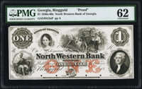 Ringgold, GA- North Western Bank of Georgia $1 18__ G2a Proof PMG Uncirculated 62, POCs
