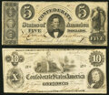 T34 $5 1861 PF-12 Cr. 267 Fine; T46 $10 1862 PF-1 Cr. 344 Fine. ... (Total: 2 notes)