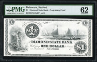 Seaford, DE- Diamond State Bank $1 18__ Haxby Unlisted Proprietary Proof PMG Uncirculated 62