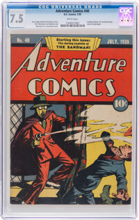 Adventure Comics #40 (DC, 1939) CGC VF- 7.5 White pages