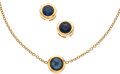 Estate Jewelry:Suites, Sapphire, Gold Jewelry Suite. ... (Total: 2 Items)