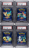 Memorabilia:Trading Cards, Pokémon Legendary Collection Set Sealed Booster Packs Group of 4 (Wizards of the Coast, 2002) PSA Graded. ...
