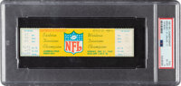 """1967 NFL Championship Game Full Ticket, PSA EX-MT 6 - The """"Ice Bowl""""!"""