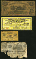 Little Rock, AR- City of Little Rock $1 ??, 1871 Rothert 424-1 Good; Jefferson City (Unknown Location), MO- State of...