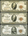 Fr. 1860-B $10 1929 Federal Reserve Bank Note. Fine; Fr. 1860-D $10 1929 Federal Reserve Bank Note. Fine; Fr. 1880-B...