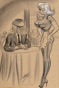 Works on Paper, Bill Ward (American, 1919-1998). Oh, I Thought You Wanted Your Just Desserts, 1957. ...