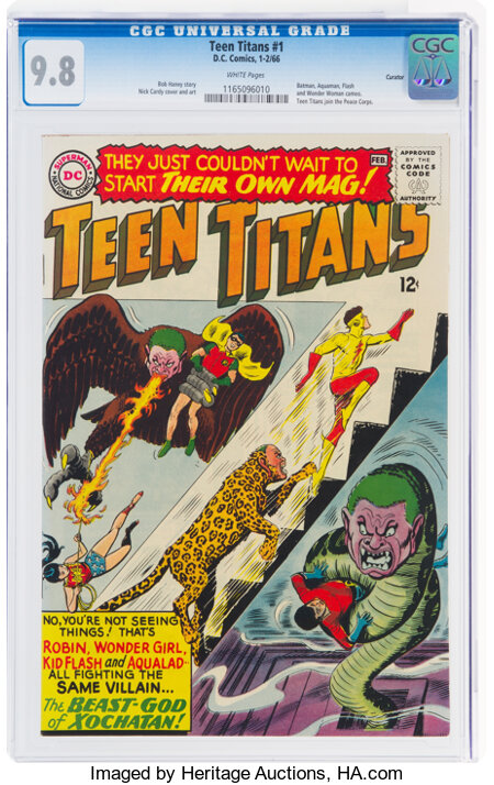 Teen Titans #1 Curator Copy Pedigree (DC, 1966) CGC NM/MT 9.8 White pages....