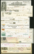 A Selection of Ten checks and drafts from Massachusetts (3); New York (4); Montana; Las Vegas; and Pennsylvania ca. 1862...