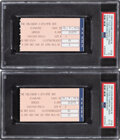 Basketball Collectibles:Others, 1990 Michael Jordan Career-High 69-Point Game Ticket Stubs Lot of 2, Each PSA Graded.... (Total: 2 items)