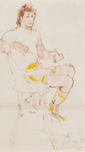 Works on Paper, LeRoy Neiman (American, 1921-2012). Sly, October 31, 1978. Marker and watercolor on paper. 20-1/2 x 11-1/2 inches (52.1 ...