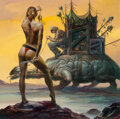 Paintings, Boris Vallejo (American, b. 1941). Junk Collector, 2004. Oil on board. 25-1/2 x 25-1/2 inches (64.8 x 64.8 cm). Signed a...