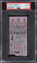 Baseball Collectibles:Tickets, 1926 World Series Game Four Ticket Stub - Babe Ruth Hits Three Home Runs, PSA Authentic. ...