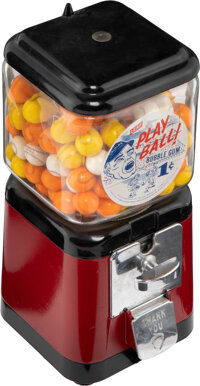 "1960's Leaf ""Play Ball"" Gumball Machine"