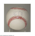 Autographs:Baseballs, Baseball Autographed Baseballs Barry Bonds Signed Baseball ...