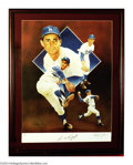 "Autographs:Others, Baseball SANDY KOUFAX FRAMED LITHO Authenticated. A 20X24"" ..."