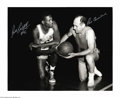 Basketball Collectibles:Photos, Basketball Autograph Bill Russell/Red Auerbach Signed 16X20 ...