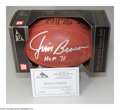 Football Collectibles:Balls, Football JIM BROWN SIGNED FOOTBALL Authenticated. ...