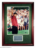 Golf Collectibles:Autographs, Golf Authograph TIGER WOODS MASTERS PHOTO FRAMED ...
