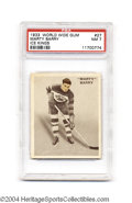Hockey Cards:Singles (Pre-1960), Hockey 1933 WORLD WIDE GUM MARTY BARRY #27 ICE KINGS NM PSA ...