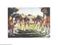 Football Collectibles:Others, Football Autograph Joe Montana Notre Dame Signed 18x24 ...