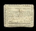 Colonial Notes:North Carolina, North Carolina December, 1768 20s Very Fine....