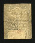 Colonial Notes:Connecticut, Connecticut May 10, 1770 5s Very Fine. ...