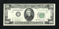 Error Notes:Skewed Reverse Printing, Fr. 2060-C $20 1950A Federal Reserve Note. Choice AboutUncirculated.. ...