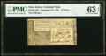 Colonial Notes:New Jersey, New Jersey December 31, 1763 18d PMG Choice Uncirculated 63 EPQ.. ...