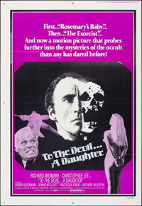 """To the Devil...A Daughter (Cine Artists Pictures, 1976). Folded, Very Fine. One Sheet (28"""" X 41""""). Horror"""