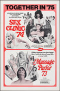 Movie Posters:Adult, Sex Clinic '74/Massage Parlor '73 Combo & Other Lot (Brian Distributing Corporation, R-1975). Folded, Overall: Very Fine. On...