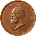 Civil War Tokens, 1864 Token J. A. Bolen, Die Sinker & Medalist, Rulau-MA-SP-28, MS64 Red and Brown NGC. Copper. Plain edge, 27mm. . From the...