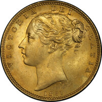Great Britain: Victoria gold Sovereign 1851 MS65 PCGS