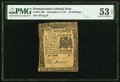 Pennsylvania December 8, 1775 40s PMG About Uncirculated 53 EPQ