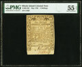 Rhode Island May 1786 5s PMG About Uncirculated 55 EPQ