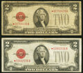 Fr. 1505* $2 1928D Legal Tender Star Note. Very Good-Fine; Fr. 1507* $2 1928F Legal Tender Star Note. Fine. ... (Total:...