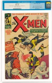 X-Men #1 (Marvel, 1963) CGC VG- 3.5 Cream to off-white pages