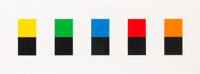 Ellsworth Kelly (1923-2015) Colors Over Black, 2012 Lithograph in colors on wove paper 28 x 77 in