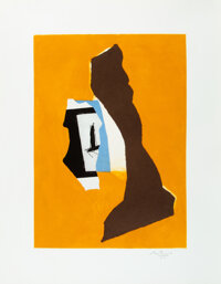 Robert Motherwell (1915-1991) Perpetual Summer, 1985 Aquatint in colors with collage on Whatman pape