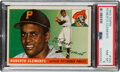 Baseball Cards:Singles (1950-1959), 1955 Topps Roberto Clemente Rookie #164 PSA NM-MT 8....