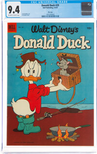 Donald Duck #29 File Copy (Dell, 1953) CGC NM 9.4 Off-white to white pages