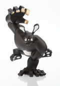 Collectible, Coarse. Paw! (Blackout Edition), 2008. Painted cast vinyl. 12 inches (30.5 cm) high. Edition of 200. Stamped to the unde...
