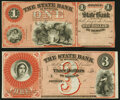 Obsoletes By State:Michigan, Detroit, MI- State Bank of Michigan $1; $3 18__ Remainders Choice About Uncirculated.. ... (Total: 2 notes)