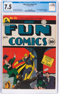 More Fun Comics #73 (DC, 1941) CGC VF- 7.5 Off-white to white pages