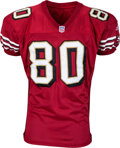 Football Collectibles:Uniforms, 2000 Jerry Rice Game Worn & Unwashed San Francisco 49ers Jersey - Photo Matched to 10/1 vs. the Cardinals & Career Touchdown #...