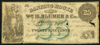 Allentown, PA- Banking House of Wm. H. Blumer & Co. 25¢ Sep. 20, 1862 Good